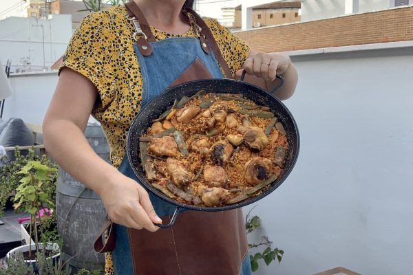 Paella online cooking class